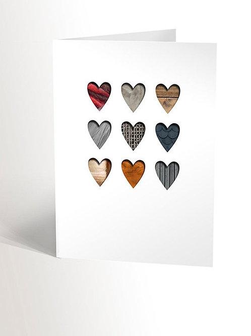 Carte Coeurs texturés