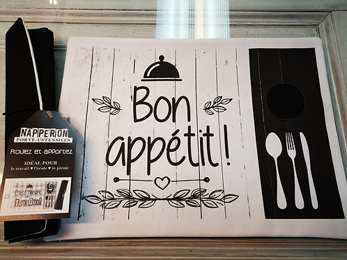 Napperon porte-ustensiles ''Bon appétit''