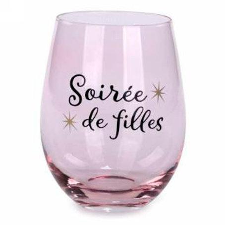 Verre à vin ''Soirée de filles''