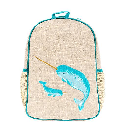 Petit sac à dos en textile de lin - Narval
