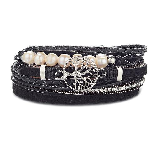 Bracelet Arbre de la vie noir