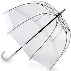 Parapluie translucide avec bande blanche