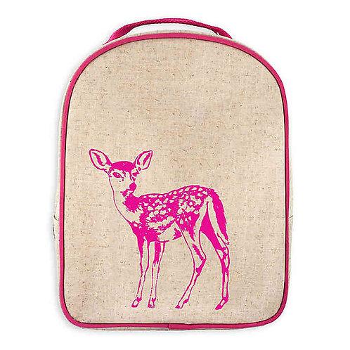 Grand sac à dos en textile de lin - Faon