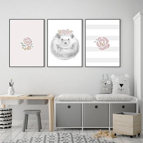 Trio d'affiches 8'' x 10''