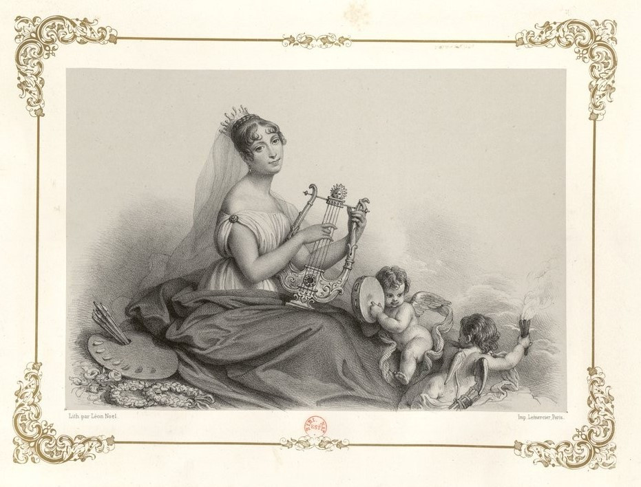 Queen Hortense Playing the Lyre