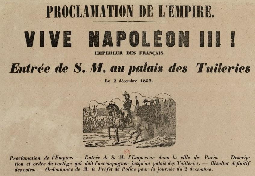 Proclamation of the Second Empire, via Bibliothèque nationale de France