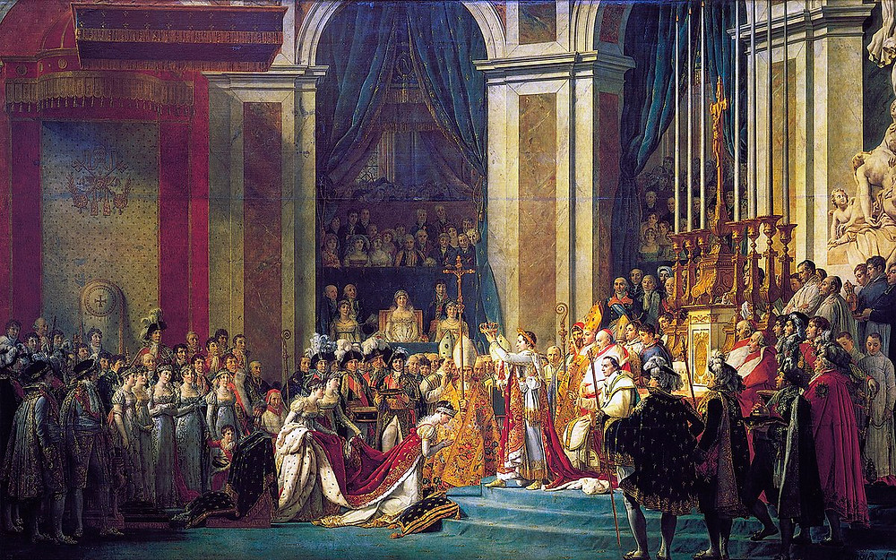 The Consecration of the Emperor Napoleon and the Coronation of the Empress Josephine on December 2, 1804, via Louvre