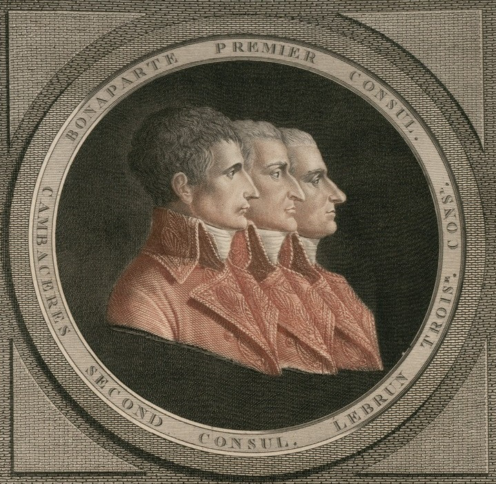 The Three Consuls: Bonaparte, Cambaceres, and Lebrun (National Library of France)