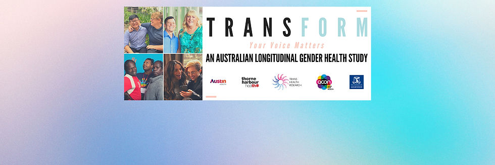 A banner image displaying a TRANSform Gender Health Study advertisement.