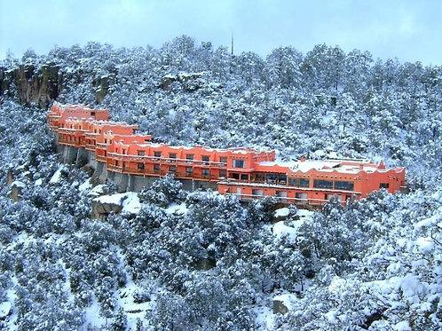 Sierra Tarahumara con minas de Santa Eulalia +🚂