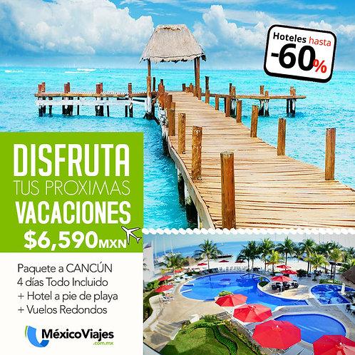 🏨Paquete Cancún + vuelos ⭐⭐⭐⭐