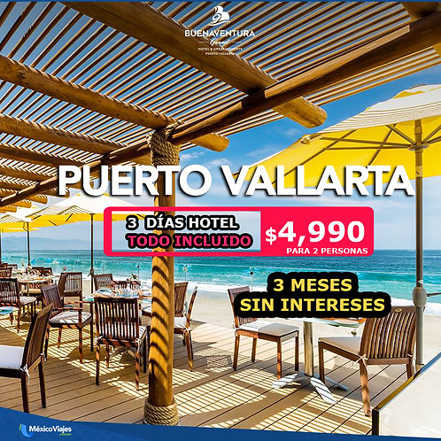 🏨Paquete Puerto Vallarta ⭐⭐⭐⭐