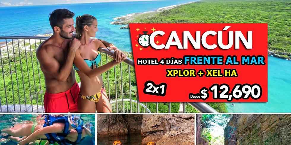 🌴 Paquete Cancún + 2 EXPERIENCIAS