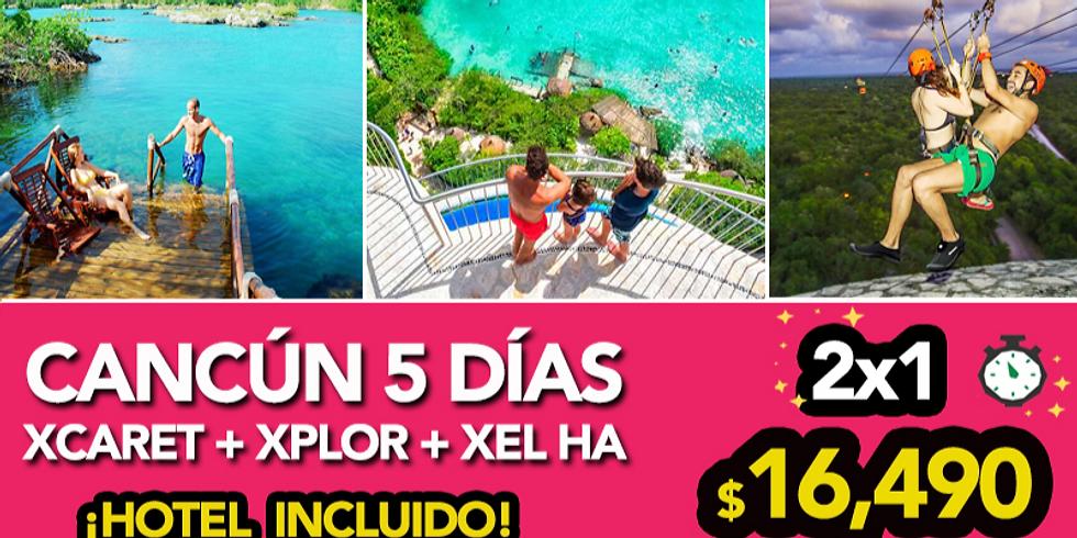 🔥Paquete Cancún + 3 EXPERIENCIAS.
