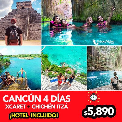Cancún  + Xcaret + Chichén  Itzá