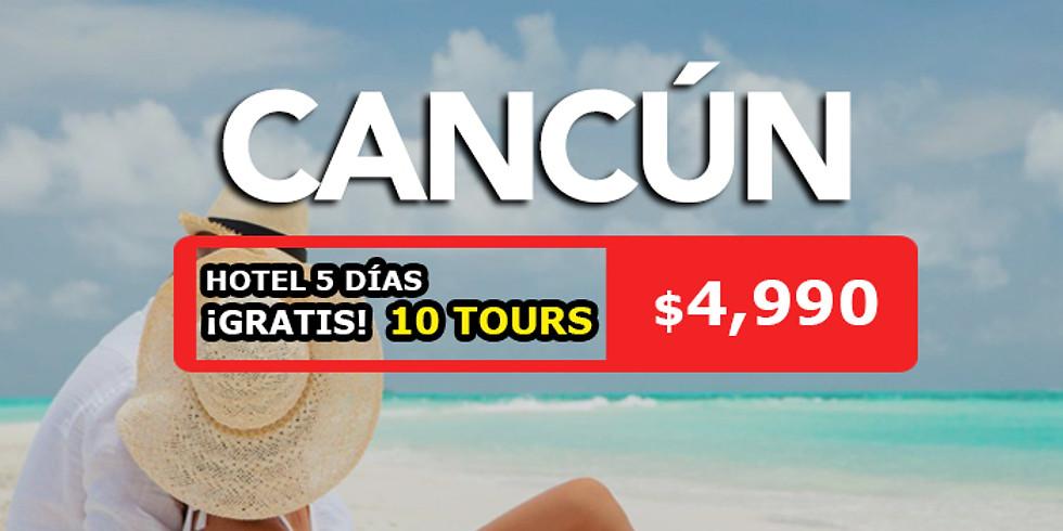 🌴 5 días en Cancun 10 tours gratis.