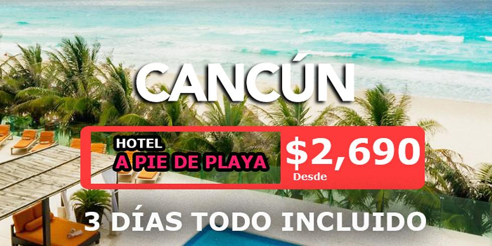 🔥 3 días en Cancún Todo Incluido