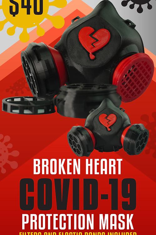 Broken Heart COVID-19 Protection Mask