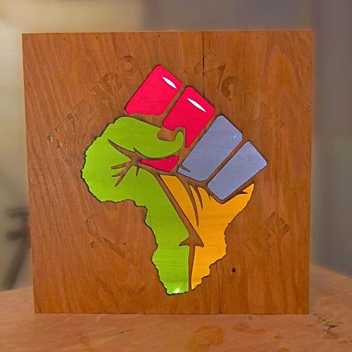 Africa Fist Wooden Lightbox (2ft x 2ft)