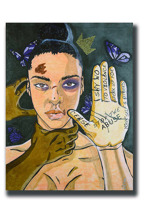 Domestic Violence Canvas Print