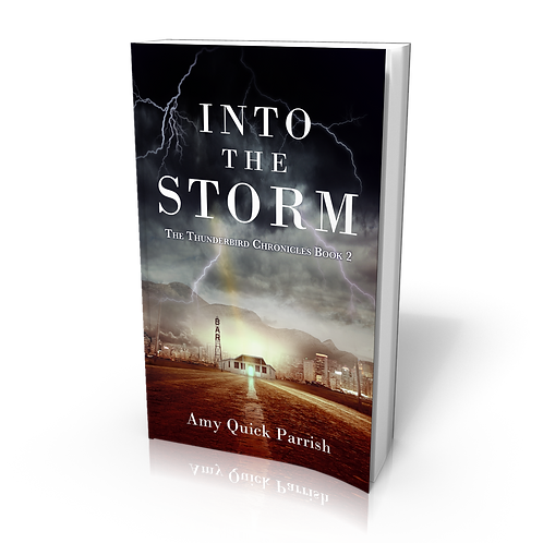 Signed paperback of Into the Storm - The Thunderbird Chronicles Book 2