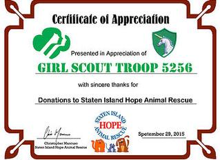 TROOP 5256 DONATIONS
