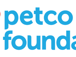 The Petco Foundation is thrilled to support your lifesaving efforts by investing $25,000.00 in your
