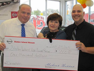 Staten Island Nissan $1,000 Donation!