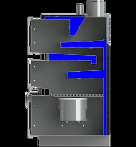 Автомаический котел Optimum Uni в разрезе
