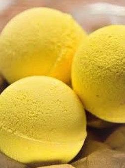 Bath bombs- yellow, blue, Argan, Aloe Vera, Jojoba oils