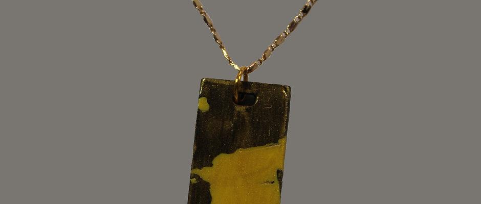 Jewelery yello/black marble block - New Road ®