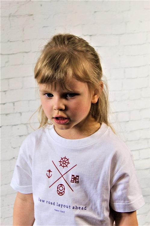 Kids white t-shirt with logo