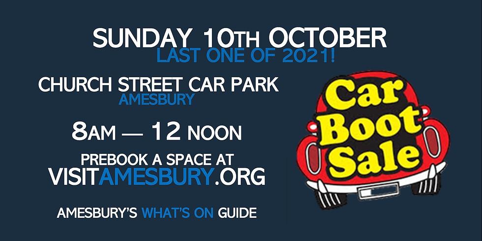 Amesbury Car Boot Sale October 10th