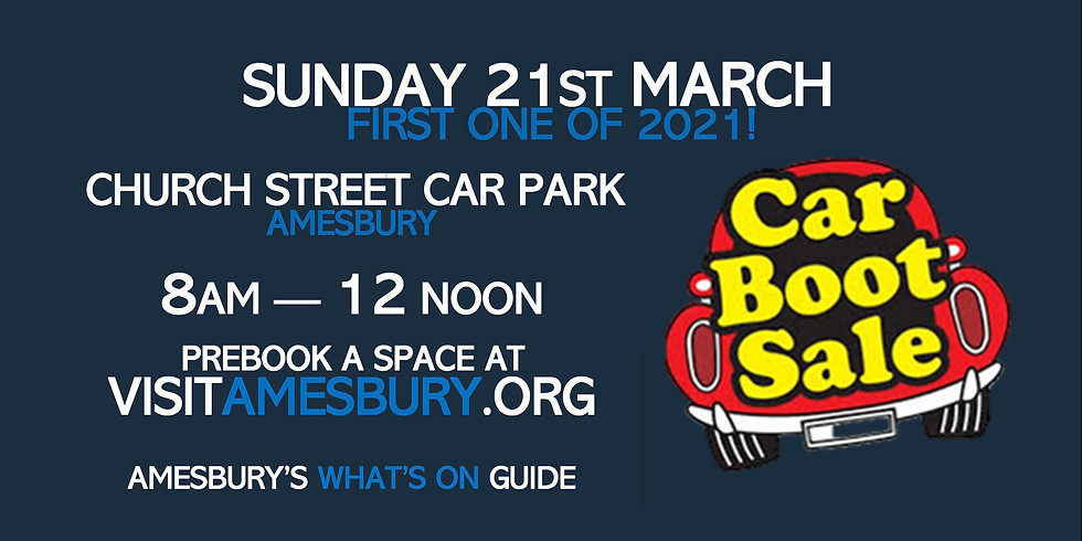 Amesbury Car Boot Sale March 21st