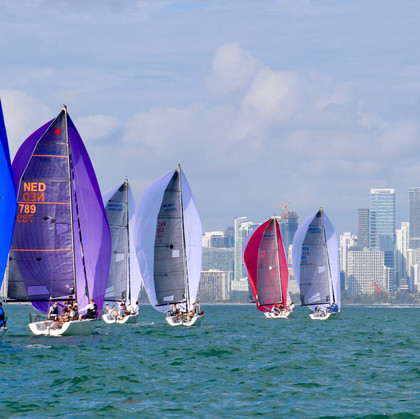 Melges 24s Downwind at Bacardi Invitatio