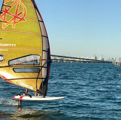 BBYC Windsurfing Coach Alex Morales Foil