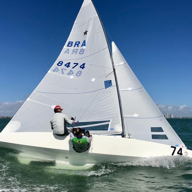 Grael & Goncalves Upwind in Miami Star M