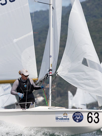Charlie Bess at  2019 Snipe Worlds Brazi