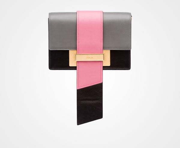 prada metal ribbon bag