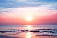 Beautiful morning sunrise, blue sea, pin