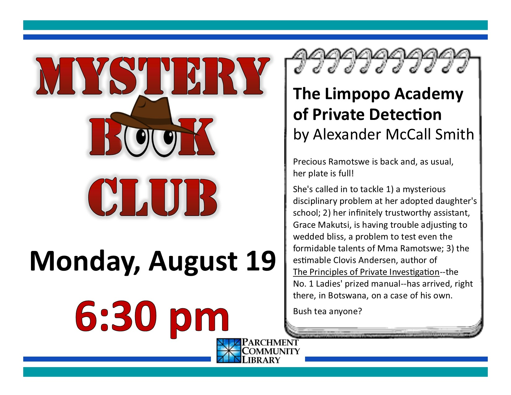 Mystery Book Club 2019 08