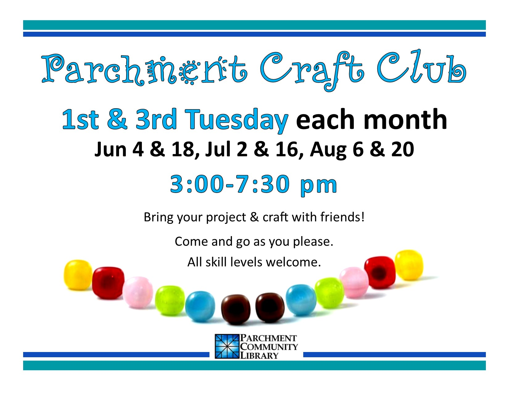 Parchment Crafts Club 2019 06 to 2019 08