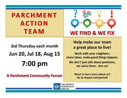 Parchment Action Team 2019 06 to 2019 08