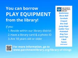 Borrow Play Equipment sign for park 3x4
