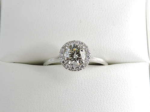 ENGAGEMENT RING! 14k white gold .76 total carat weight GIA certified