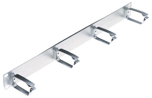 "19"" 1U Cable Management Metal, metallic, 70mm metal ring - P/N 502272"