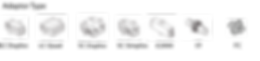 Adaptor type for Fibre Optic Sliding Patch Panel System/LC Duplex, LC Quad, SC Duplex, SC Simplex, E2000, ST, FC
