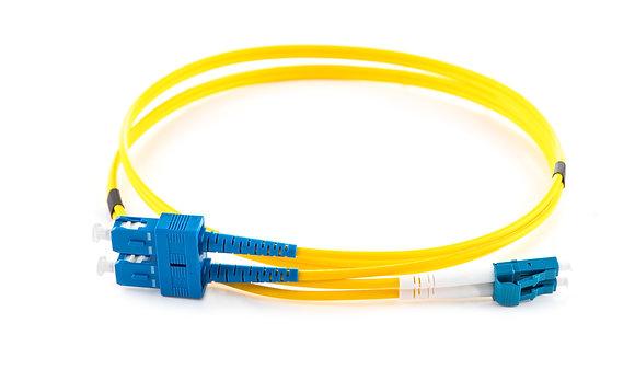 OS2 9/125 LC-SC Duplex Fibre Optic Patchcord