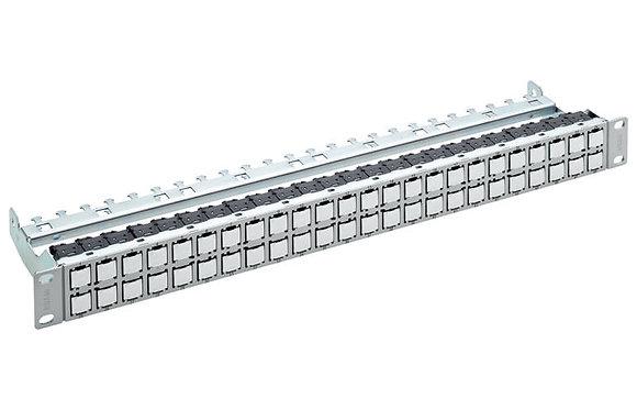 """19"""" 1U Patch Panel HD EL ISO 48xRJ45/u, Cat6A EL, grey / Matrix Global Networks"""
