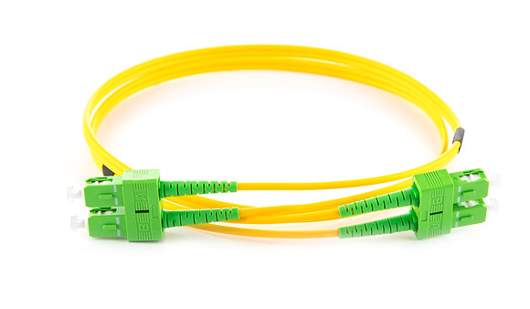 OS2 9/125 SC/APC-SC/APC Duplex Fibre Optic Patchcord